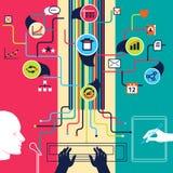 Stimme, Text, manuelle Dateneingabe 3D übertrug Bild Lizenzfreies Stockfoto