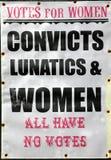 Stimmen für Frauen Stockfotos