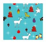 Stimmung des neuen Jahres auf dem Hintergrund eines Rotwilds und des Weihnachtsbaums lizenzfreie abbildung