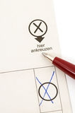 Stimmzettel Lizenzfreies Stockbild