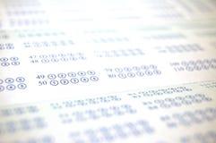 Stimmzettel-Hintergrund Stockbild