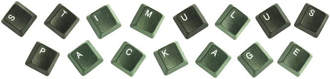 Stimulus package keys. Composite photo of keyboard keys spelling out the words stimulus package Royalty Free Stock Photo