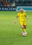 Stina Blackstenius. In UEFA Women's Under-19 Championship final, tournament top scorer Royalty Free Stock Photos
