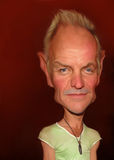 Sting caricature. For editorial use, for news, magazines and web royalty free stock photos