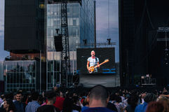 Sting in concert Stock Photography