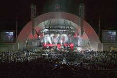 Sting, der am eben erneuerten Hollywood Bowl, Hollywood, Kalifornien durchführt Lizenzfreies Stockbild