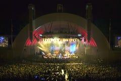 Sting, der am eben erneuerten Hollywood Bowl, Hollywood, Kalifornien durchführt Lizenzfreie Stockfotografie