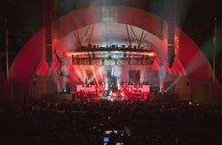 Sting, der am eben erneuerten Hollywood Bowl, Hollywood, Kalifornien durchführt Stockfotografie
