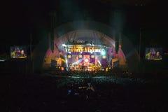 Sting, der am eben erneuerten Hollywood Bowl, Hollywood, Kalifornien durchführt Stockfotos