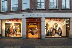 The Sting store in Sneek, the Netherlands. The Sting is a Dutch clothing retailer with branches in in the Netherlands, Germany and Belgium royalty free stock image