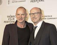 Sting e Paul Haggis immagine stock