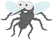 Sting mosquito with hair. Illustration Royalty Free Stock Photo
