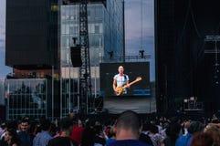 Sting no concerto fotografia de stock