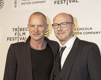 Sting och Paul Haggis Fotografering för Bildbyråer