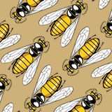 Sting pattern background. Cartoon sting pattern background in vector Royalty Free Stock Photography