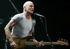 Sting Performs di concerto fotografia stock