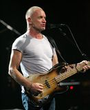 Sting Performs no concerto foto de stock
