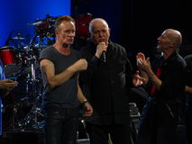 Sting And Peter Gabriel Rock Paper Scissors Part 4 90 Royalty Free Stock Image