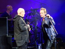 Sting And Peter Gabriel Rock Paper Scissors 37 Royalty Free Stock Image
