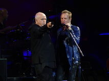 Sting And Peter Gabriel Rock Paper Scissors 63 Stock Photo