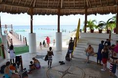 Sting Ray Beach Cozumel Mexico Arkivbilder