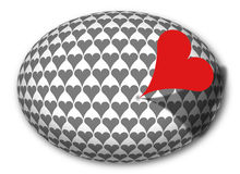 Sting Red Heart. In Egg Royalty Free Stock Photos