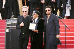Sting, Spike Lee performs on the red carpet royalty free stock images