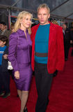 Sting, Trudie Styler Images stock