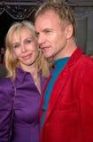 Sting, Trudie Styler, estrela pop Imagens de Stock