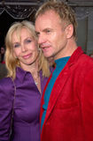 Sting, Trudie Styler, vedette de pop Images stock