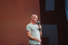 Sting welcomes attendees of Oracle OpenWorld Stock Photography