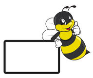 Stinger bee cartoon Royalty Free Stock Photo