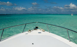 Stingray City and caribbean blue waters royalty free stock images