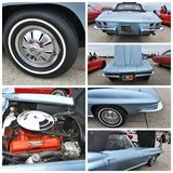 Stingray 1964 di New York chevrolet di manifestazione di automobile antica Fotografia Stock