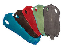 Stingray exotic leather in 5 colors Royalty Free Stock Image