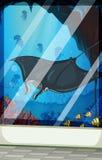 Stingray and fish at the aquarium Royalty Free Stock Image