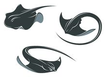 Stingray fish mascots Royalty Free Stock Photography