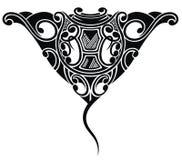 Stingray tattoo in Maori ethnic style Royalty Free Stock Photos