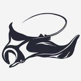 Stingray wektoru logo ilustracji