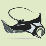 Stingray wektoru logo royalty ilustracja