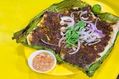 Stingrayfisk med Sambal Chilisås Arkivfoto