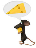 Stingy mouse. Isolated on the white background Royalty Free Stock Photos