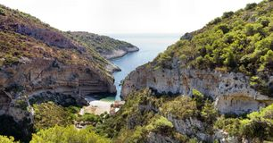 Stiniva bay Stock Photography