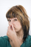 Stink gesture left side Stock Photography
