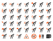 Free Stink Patients Icon Set Royalty Free Stock Image - 63802236