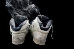 Stinkende oude tennisschoenen Royalty-vrije Stock Afbeelding