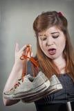 Stinkende schoenen Stock Afbeeldingen