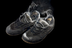Stinkende tennisschoenen Royalty-vrije Stock Fotografie