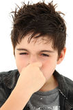 stinky allergiuttrycksframsida Arkivbild