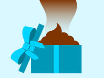 Stinky dung - gift box Royalty Free Stock Photos